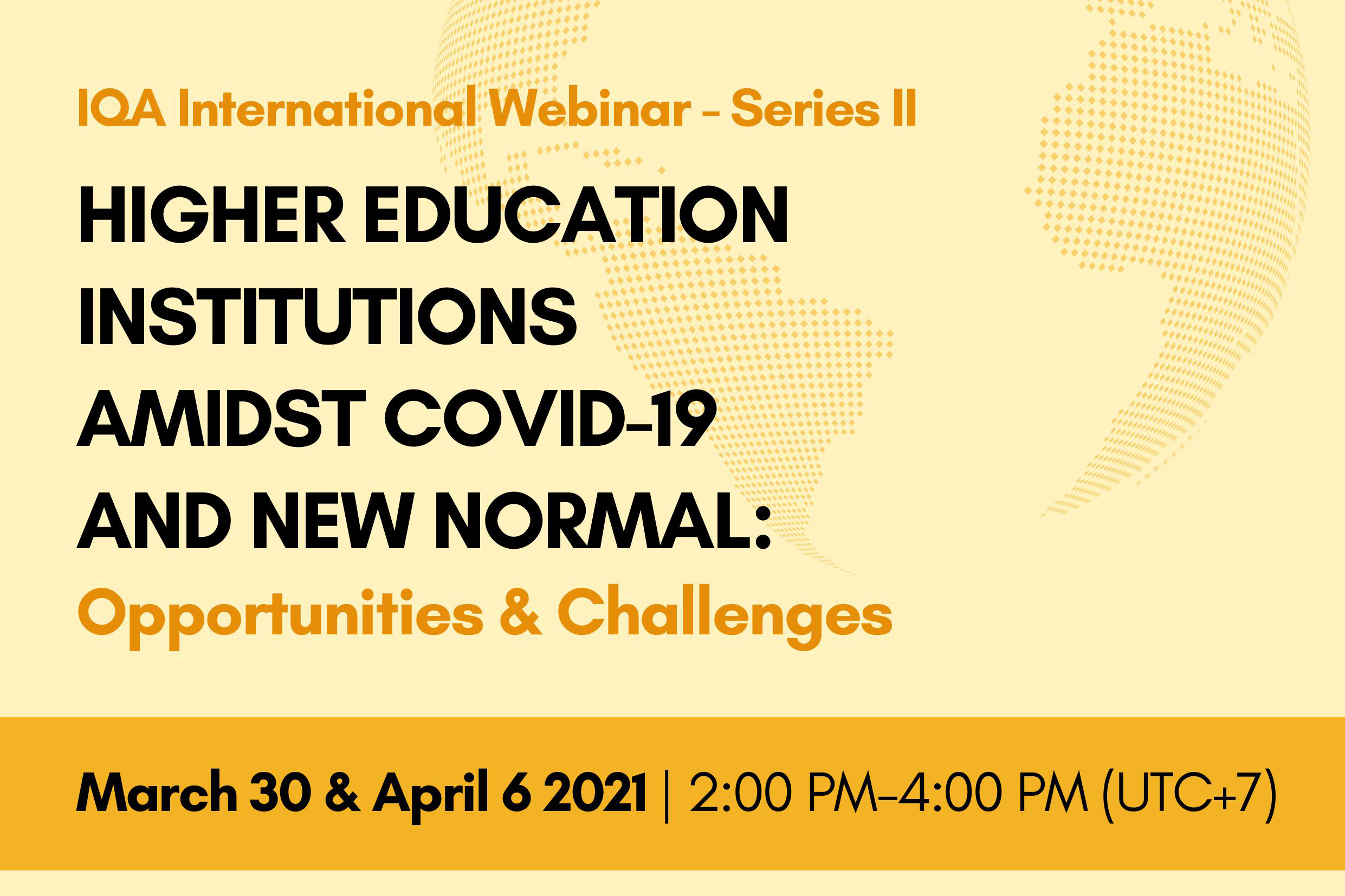 IQA International Webinar- Series II