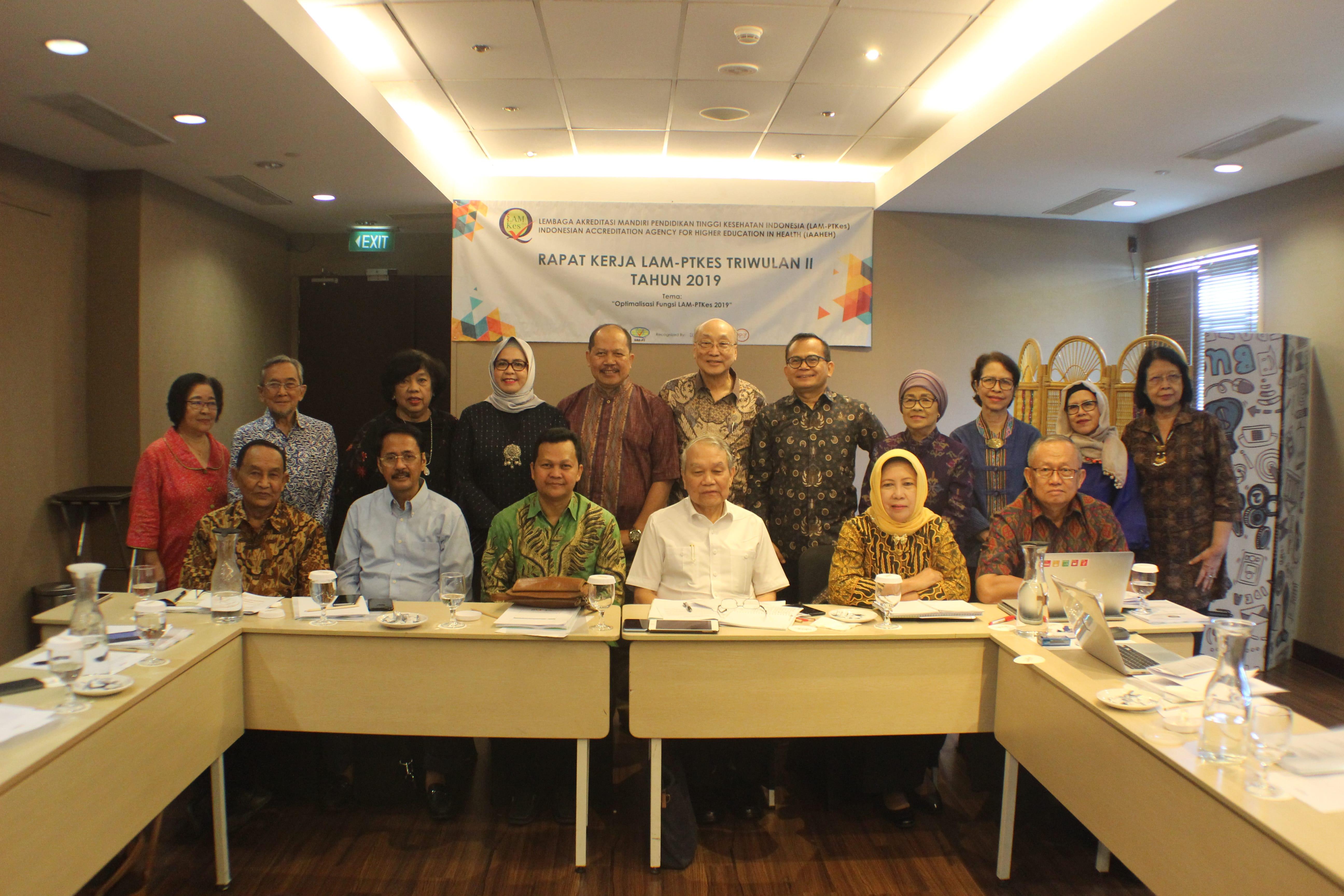 LAM-PTKes Triwulan II Work Meeting
